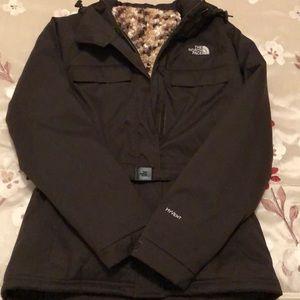 North face jacket. Brown with herringbone design